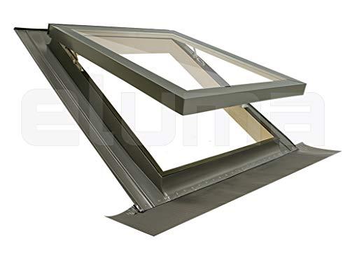 Ventana para tejado COMFORT VASISTAS/Claraboya certificada y altamente aislante/Vidrio antigranizo + Vidrio de...