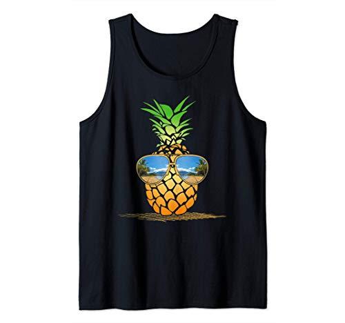 Aloha playas de Hawai Hawaii gafas de sol divertidas piña Camiseta sin Mangas