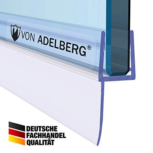 VON ADELBERG Duschdichtung Wasserabweiser Gerade PVC Ersatzdichtung für Dusche Typ: VA022-15 - Länge: 40 bis 200 cm - Glasstärke: 4, 6, 8, 10 mm, Dichtung Länge:70 cm, Glasstärke:8 mm