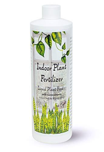 Indoor Plant Food (16 oz) All-purpose House Plant Fertilizer | Liquid Common Houseplant Fertilizers for Potted Planting Soil | by Aquatic Arts