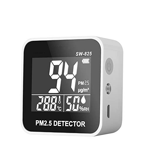 CHENG PM 2.5 Calidad del Aire Monitor, Inteligente Calidad del Aire De Mano Medidor EMPERATURA Medidor Tumidity Analizador De Gas Detector De Gas para Usos De Interior Inicio