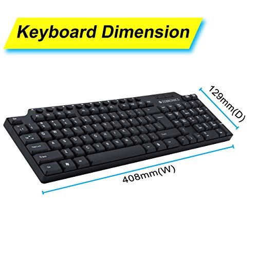 Zebronics ZEB-KM2100 Multimedia USB Keyboard Comes with 114 Keys Including 12 Dedicated Multimedia Keys & with Rupee Key
