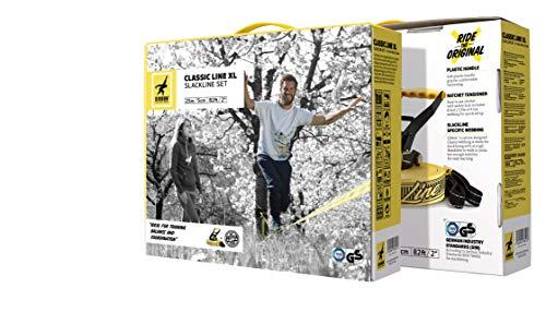 Gibbon Slacklines Classic Set de Slackline, Unisex Adulto, Amarillo, estándar