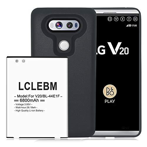 V20 Akku, 6800mAh Erweiterte Akku mit Schutzhülle für LG V20 BL-44E1F Li-Ion Akku