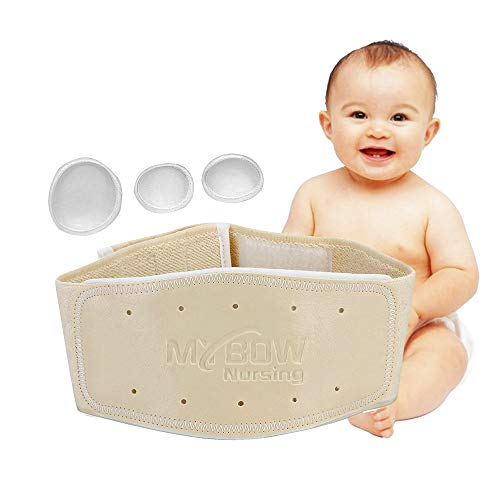 Umbilical Hernia Belt Baby Belly Support Band for Gas and Colic Relief Wrap Belly Button Band Newborn Abdominal Binder Hernia Girdle Infant Navel Belt (Medium)