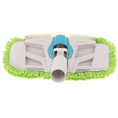 Non-brand Cepillo de Piso de Boquilla de Mopa de Aspiración Universal con Almohadilla de Fregona con Flecos de Polvo Compatible con Conector de 32 Mm / 1,25 ''