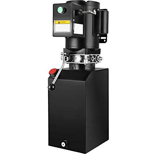 VEVOR 14L Hydraulikpumpe, 220V Hydraulikaggregat, 25,2 kg Elektrische hydraulikpumpe, mit Tank aus Metall Eisen schwarz, (14L Hydraulikpumpe Doppeltwirkende)hochwertige Hydraulikaggregat