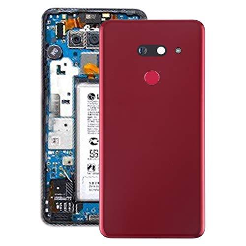Mobiele telefoon onderdeel werkt zeer goed batterij-achterdeksel met camera en vingerafdruk voor LG G8 THINQ lens, Rood