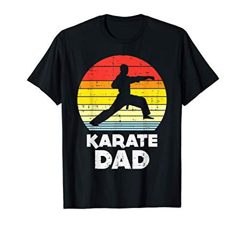 Hombre Karate Dad Sunset Retro Black Belt Martial Arts Men Gift Camiseta