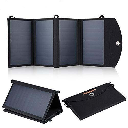 Nieuwe 28W Zonnepanelen Portable Folding Opvouwbaar Waterproof Dual 5V / 2.4A USB-zonnepaneel oplader Power Bank voor telefoon batterij