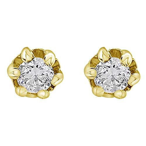 MILLE AMORI ∞ Orecchini in oro e diamanti da donna ∞ Oro bianco o giallo 9 Carati 375 Diamante 0,36 Carati ∞ Collezione Diadema + Luce + Volume