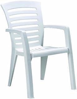 BEST 15120000 Silla de jardín - sillas de jardín (Dining, Grid, Asiento Duro) Color Blanco