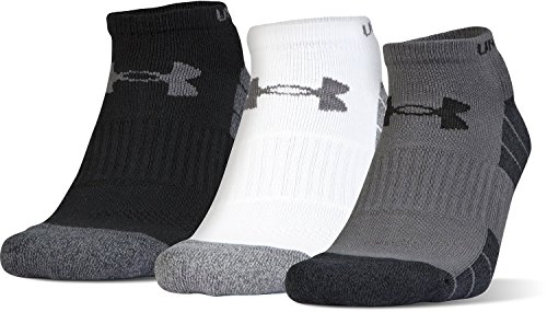 Under Armour Elevated Performance No Show Socks, 3-Pairs, Graphite Marl/Assorted, Shoe Size: Mens 8-12, Womens 9-12