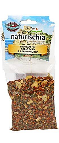 Naturischia - 3 confezioni di preparato per Aglio, olio e peperoncino 100 gr. ciascuna - Prodotto tipico Ischia