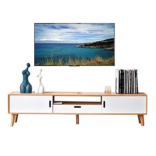 Peakfeng Mobile TV, TV Lowboard, Scaffali flottanti, Cabinetto TV, Console multimediali 140 160, Realizzato in bambù Naturale, Non ha Un Odore Particolare ed è Facile da Pulire e prendersi Cura di.