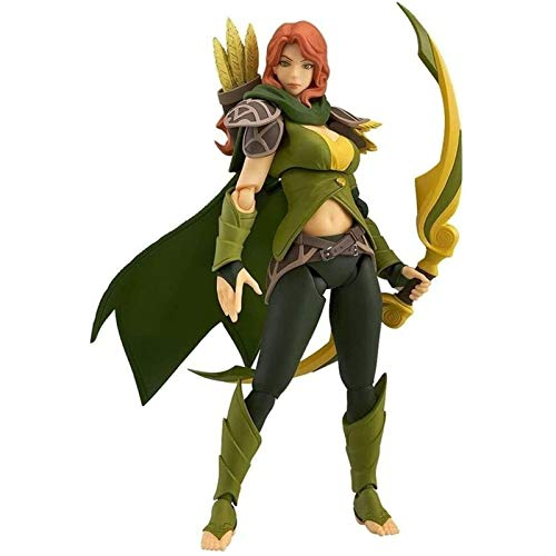 YANAN Anime Action Figure Dota 2 Windranger Model Toy Doll Ornaments Collected Surprise Gifts 14cm