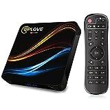 Android TV Box 11.0,【4GB RAM 64GB ROM】QPLOVE Q9 Box tv Android RK3318 Quad-Core 64bit Cortex-A53 CPU Mali-450 Dual WiFi 2.4G/5.0GHz BT 4.0 LAN 100M 4K 3D USB 3.0 Smart TV Box