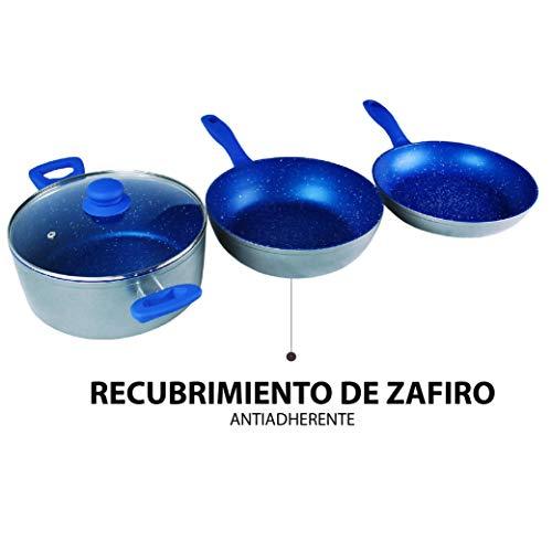Juego De Sartenes Con Recubrimiento De Zafiro