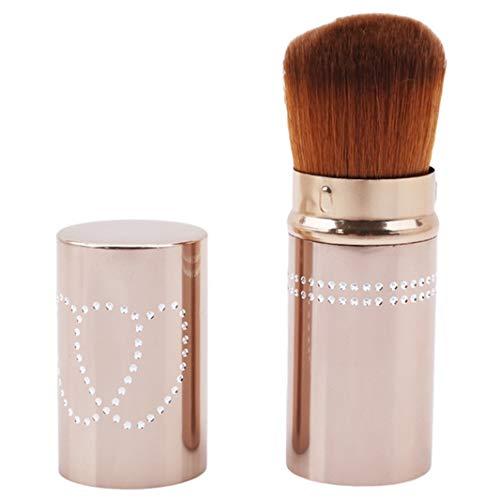 Underleaf Pinceau de maquillage professionnel rétractable brosse de maquillage en poudre Poudre Blush Foundation Outils de pinceaux cosmétiques (brun)
