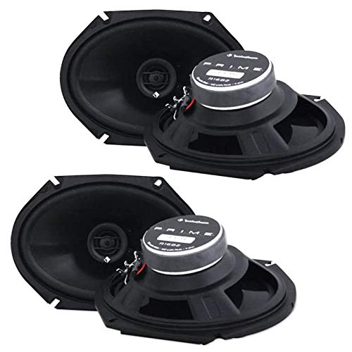 """2 Pairs Rockford Fosgate R1682 6x8 400w 2 Way Full-Range Car Speakers - Mica-injected Polypropylene Woofer Cone with Foam Surround - 1/2"""" Mylar Balanced Dome Tweeter"""