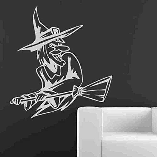 Pegatinas De Pared Bedom wallpaper Etiqueta De Halloween Bruja Etiqueta Engomada Del Coche Cartel Vinilo Etiqueta De La Pared Decoración Mural Etiqueta De Halloween @ _40X44Cm