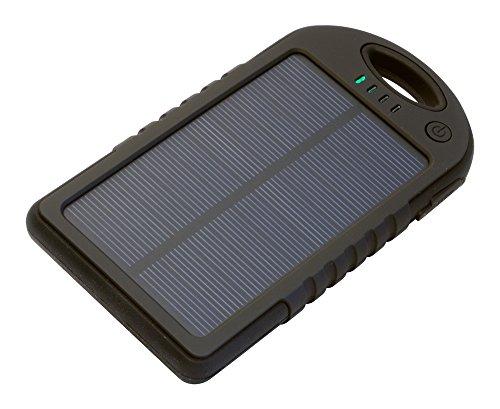 Iconbit FTB Travel - Powerbank 5.000mAh - Spritzwassergeschuetzt mit Solar Panel und LED-Lampe - Idale fuer Ihr Smartphone, Tablet …