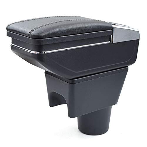 Para Renault Duster 2010-2018 Apoyabrazos Caja de almacenamiento Coches Reposabrazos Central Negro