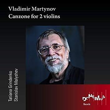 Vladimir Martynov: Canzone for 2 violins