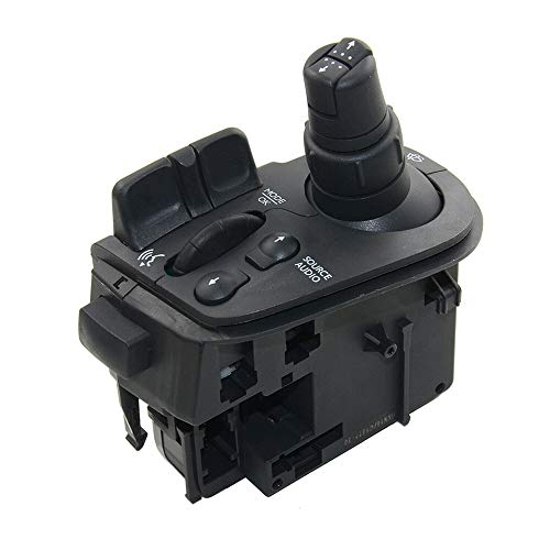 Interruptor de Radio de Limpiaparabrisas, Columna de Dirección de Tallo Compatible con Renault Clio III 8201590631 7701068115