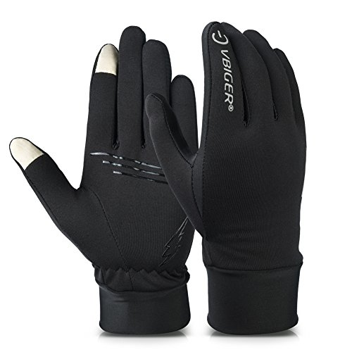 Vbiger Unisex Running Gloves Touch Screen Anti-slip Gloves