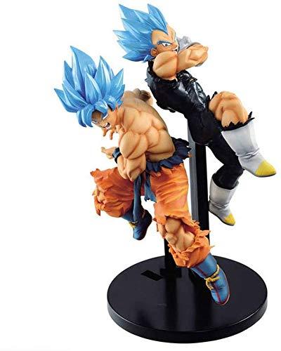 TQGG Dragon Ball Super Blue Schlacht Sohn Goku Vegeta Anime Figur 20cm-Super Saiyajin Mann-Figur Dekoration Ornamente Sammlerstücke Spielzeug Animationen Charakter Modell
