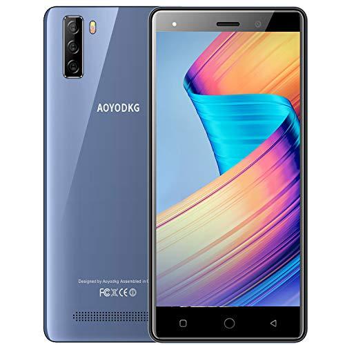 Smartphone ohne Vertrag Android 9.0 Handy 5.0 Zoll FHD + Display, 16 GB ROM 128 GB Erweiterbar, Dual-SIM-Smartphone-Bundle, Gesichts-ID, 3400 mAh, Dreifachkamera 4G Günstig Handy