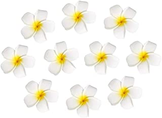 10pcs Hawaiian Artificial Plumeria Foam Flower Hair Clip For Wedding Party Headdress Home Decoration White Yellow