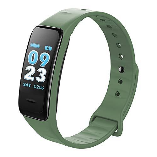 Smartband Fitness-Tracker Schlafmonitor Herzfrequenz Schrittzähler, Farbe:grün