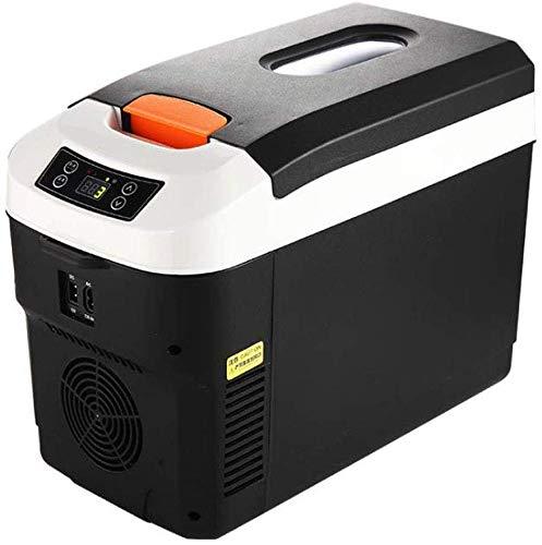 Dljyy Koelbox voor in de auto, 2 modi, draagbaar, met automatische vergrendeling, handvat voor op reis, camping, 12 liter zwart