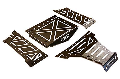 Integy RC Model Hop-ups C27661BLACK Aluminum Alloy Body Panel Kit for Axial 1/10 Yeti Rock Racer Buggy