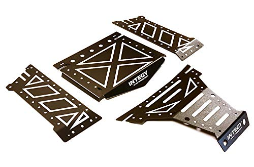 Integy RC Model Hop-ups C27661BLACK Aluminum Alloy Body Panel Kit for Axial 1/10 Yeti Rock Racer Buggy