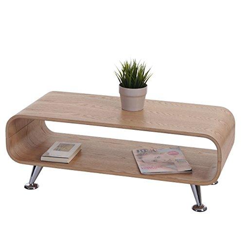 Mendler Couchtisch HWC-B97, Loungetisch Club Tisch, 34x90x39cm - Eiche Natur