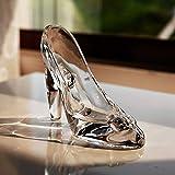 OUDE Zapatos de Cristal de Cenicienta de Cristal del Regalo de cumpleaños Decoración de Cenicienta de Alta Hee Zapatos Zapatos de la Boda del Ornamento Figurines Miniaturas