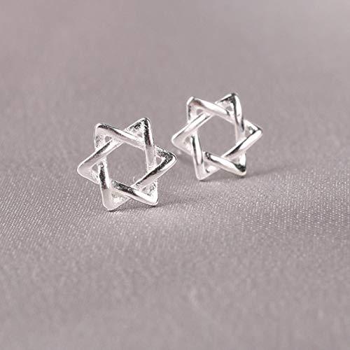 Real 925 joyería de Plata esterlina para Mujeres Lindo Pendiente Stud pequeño Pendiente para niñas-003-R218