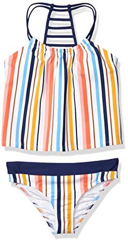 next Mädchen Strappy Back Tankini and Banded Swimsuit Bottom Bikini-Set, Sonnenuntergang Horizon Marineblau, 44 DE