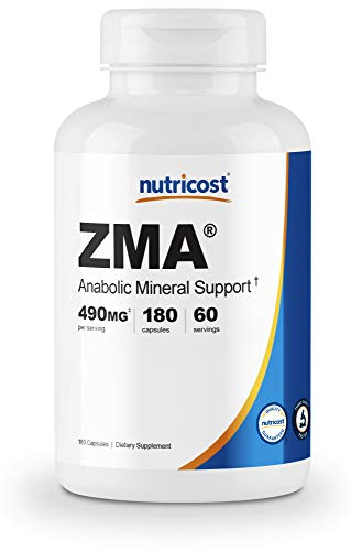 Nutricost ZMA 180 Capsules - Non-GMO and Gluten Free ZMA Supplement