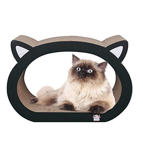 MushroomCat Face Cute Modern Scratch Lounge Classic Ultimate Cat Scratcher Bed