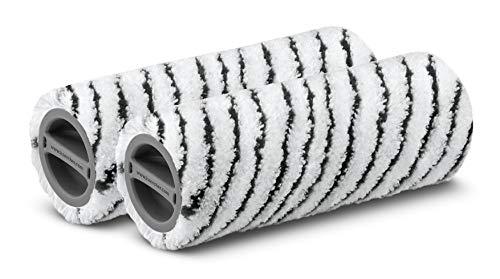 Kärcher Steinwalzenset für alle Kärcher FC (2-teilig, waschbar, fusselfrei, Maschinenwäsche 60 °C, hohe Schmutzaufnahme, für unempfindliche Hartböden, Stein, Keramik, Fugenreinigung möglich)