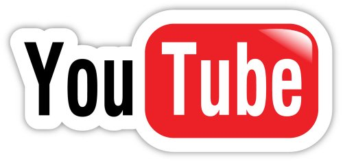 """YouTube You Tube sticker decal 6"""" x 3"""""""