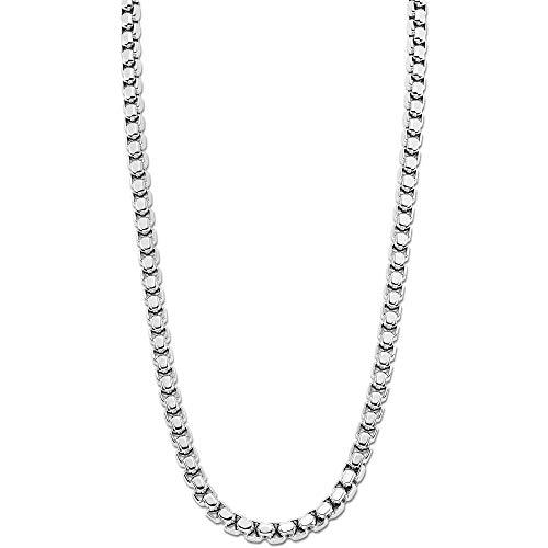 LOTUS STYLE Collar modelo LS1931-1/1 de la colección Men In Black en acero para caballero, Plata
