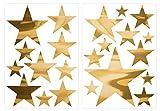 Wandtattoo Sterne Gold (glanzgold) Deko Wohnzimmer Schlafzimmer Kinderzimmer