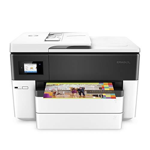 HP OfficeJet Pro 7740 G5J38A, Stampante Multifunzione per Grandi Formati A3, Stampa, Scansiona, Fotocopiatrice, Fax, ADF, Wi-Fi, Wi-Fi Direct, Ethernete USB, HP Smart, Bianca