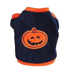 LAAT D'animal Familier Halloween Déguisements Citrouille Pumpkin Vêtements Pour Les Petites et Moyennes Chien Chat