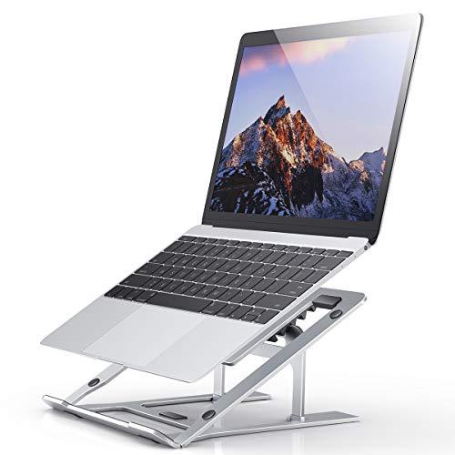 Jumkeet Support Ordinateur Portable, Support PC Portable Ventilé en Alliage d Aluminium, Laptop Stand Réglable, Stand de Bureau Ergonomique pour MacBook iPad Tablette Dell Lenovo (11-16 Pouce)